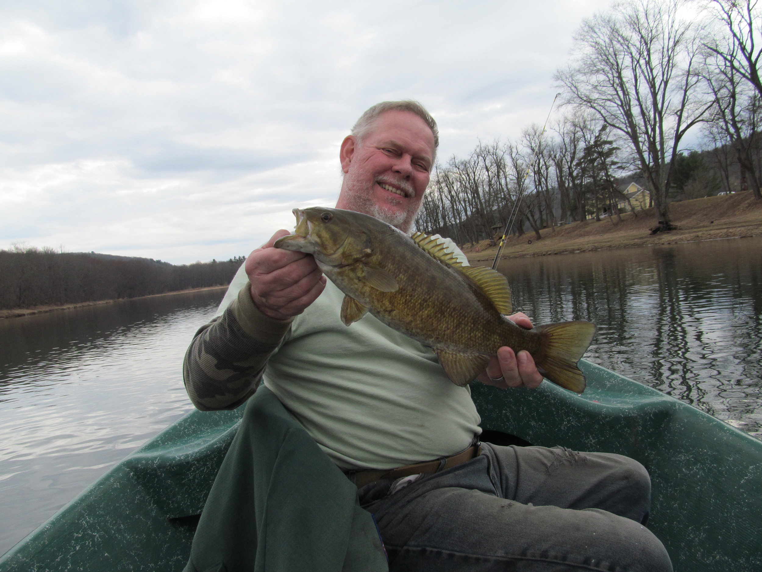 "3/8/16 Bob S. finds a 17"" Smallmouth!"