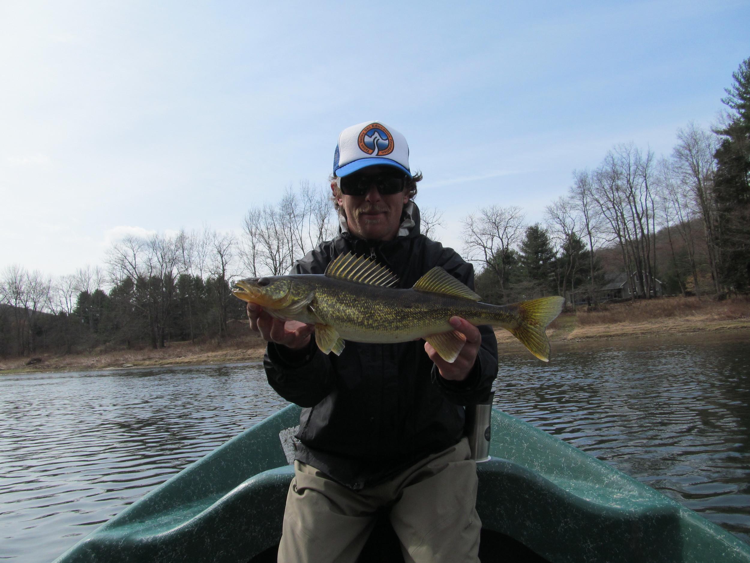 3/31/16 A feeding Walleye in Spring