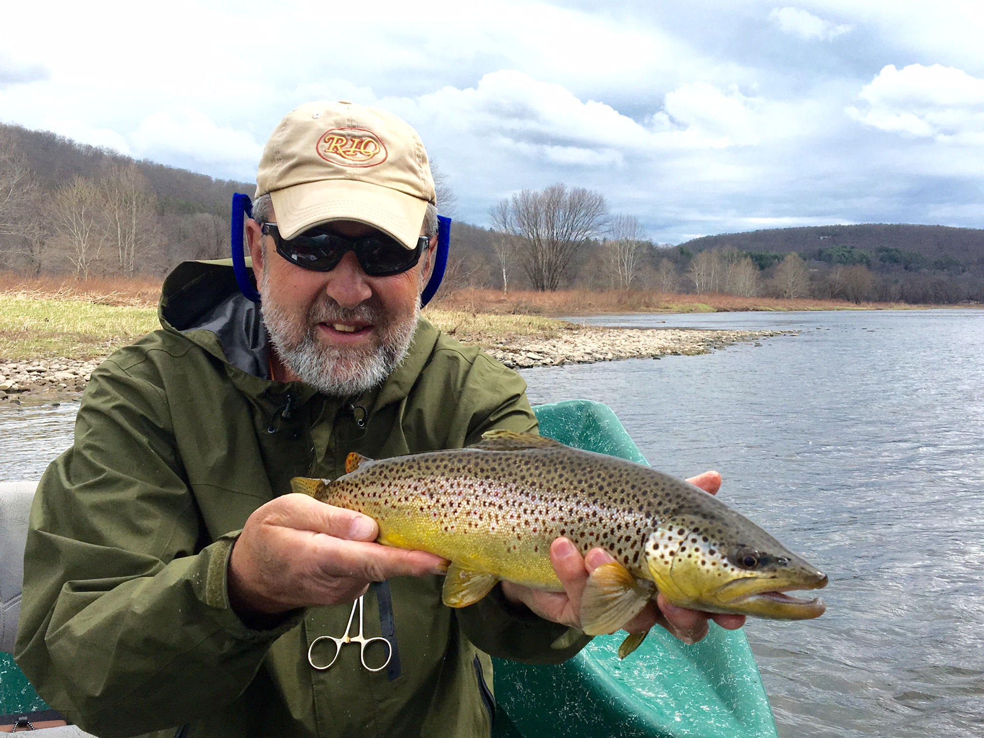 4/1/16 A healthy main stem Brown trout for Guide Mike P.