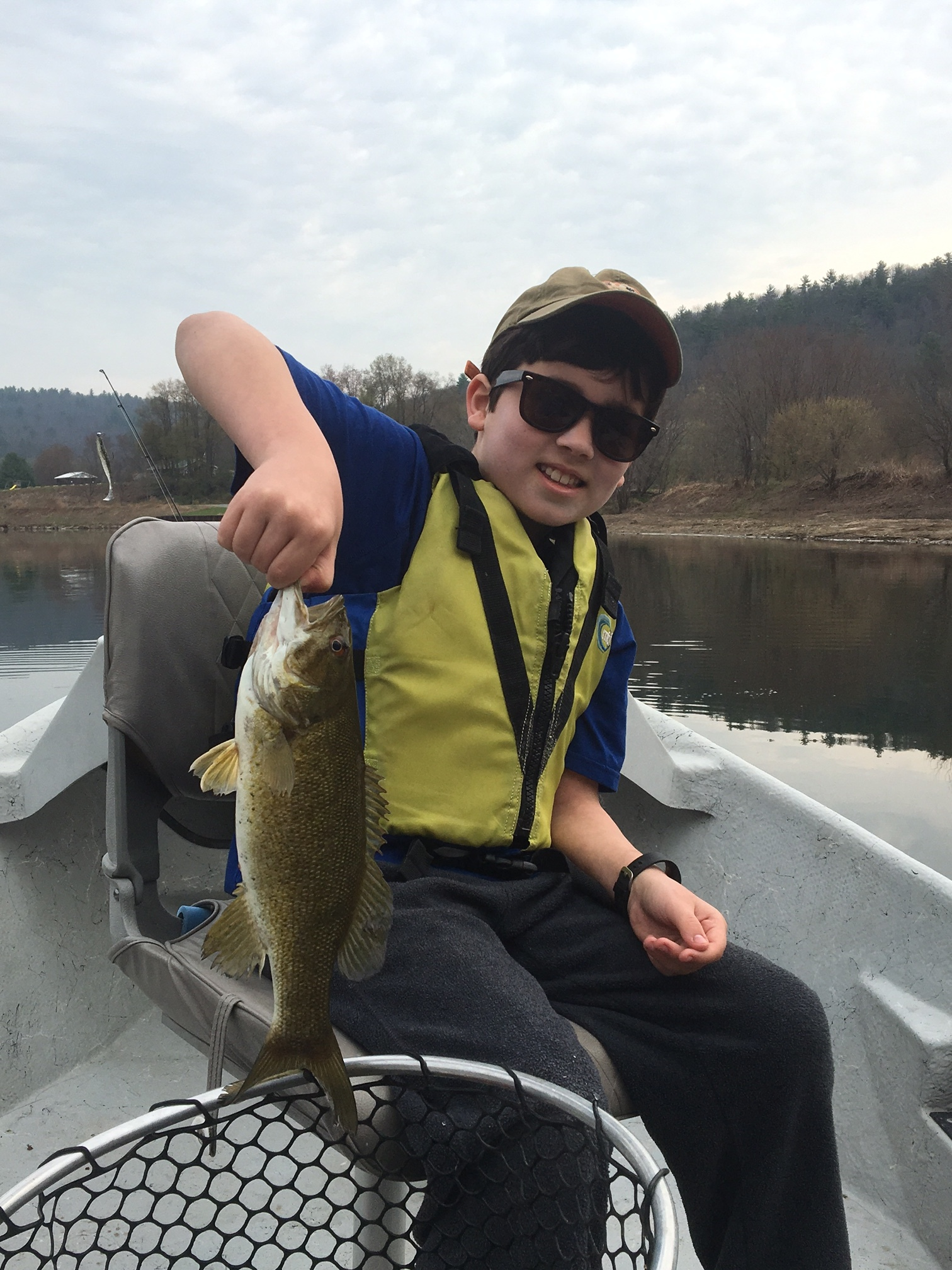 4/22/16 Benny starts the day off with a nice Smallmouth Bass.