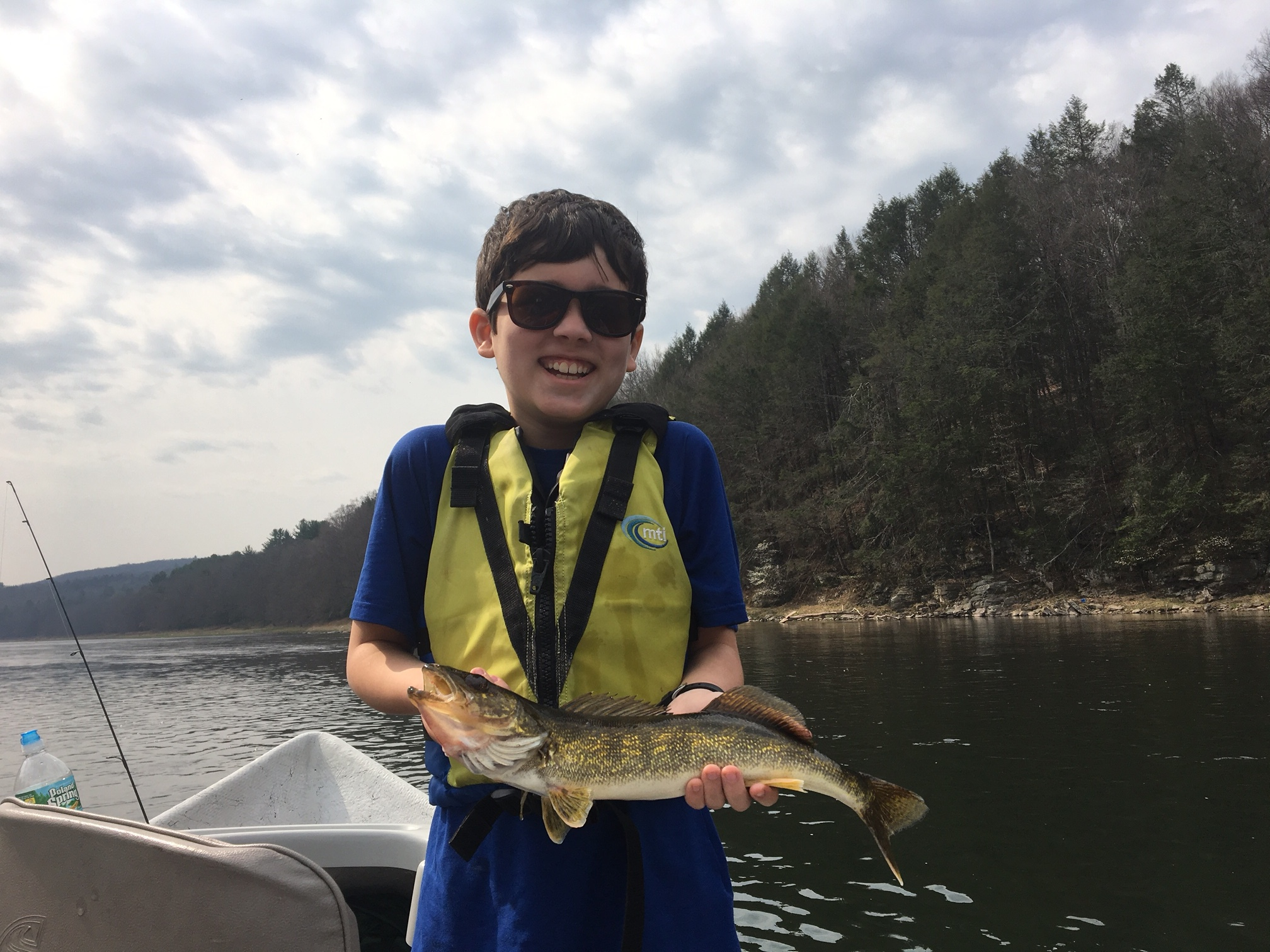 4/22/16 Benny follows up with his first Walleye ever!