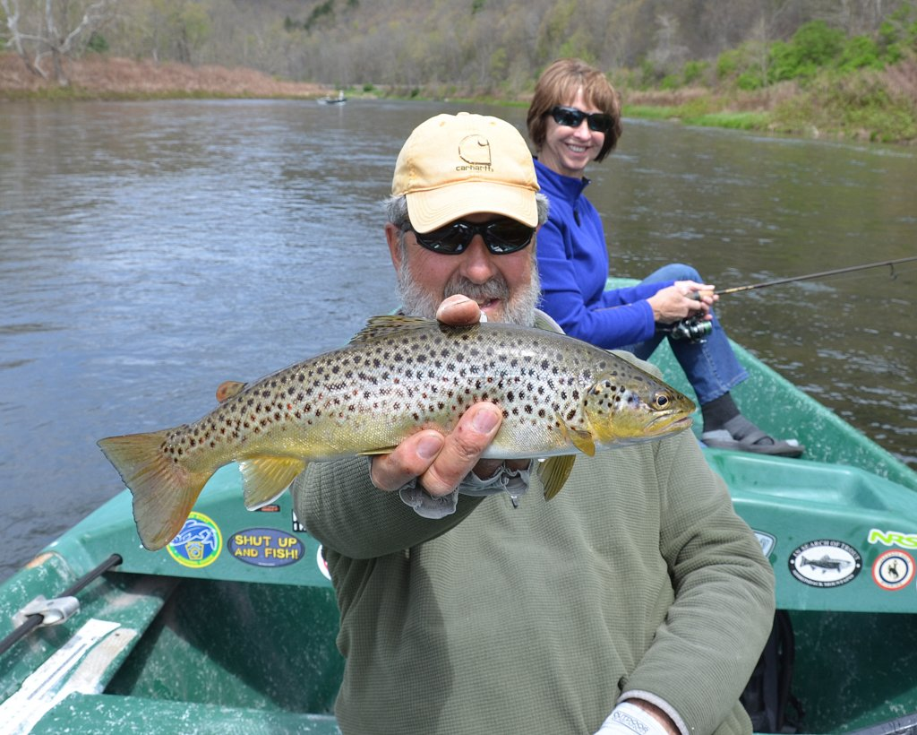 5/10/16 Guide Mike P. displays Bob's Brown trout!