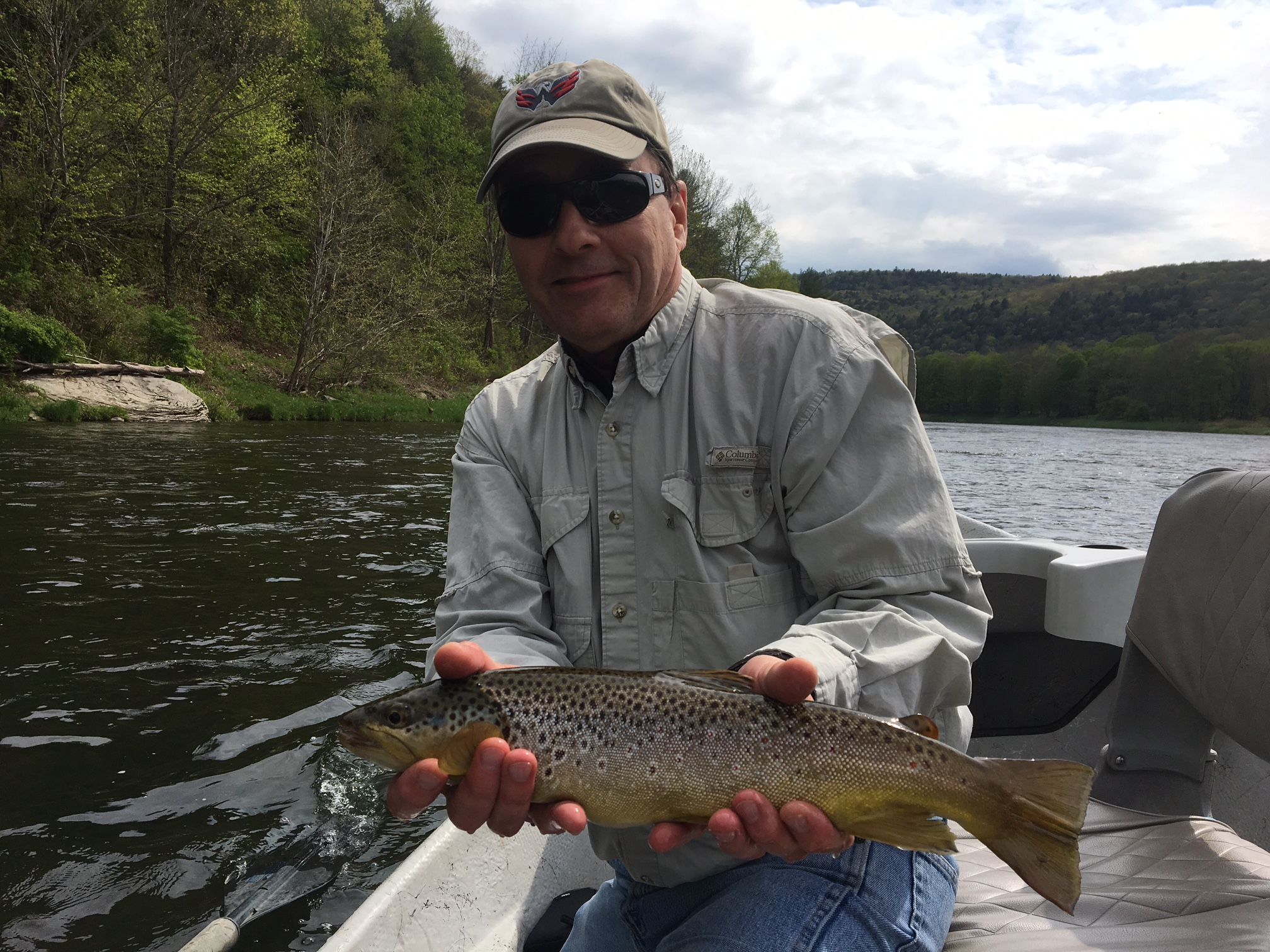 "5/17/16 Rich B. Getting it done with the fly rod. 18"" Brown trout."