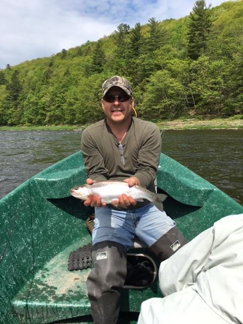 5/24/16 Dan N. slams a nice wild rainbow trout.