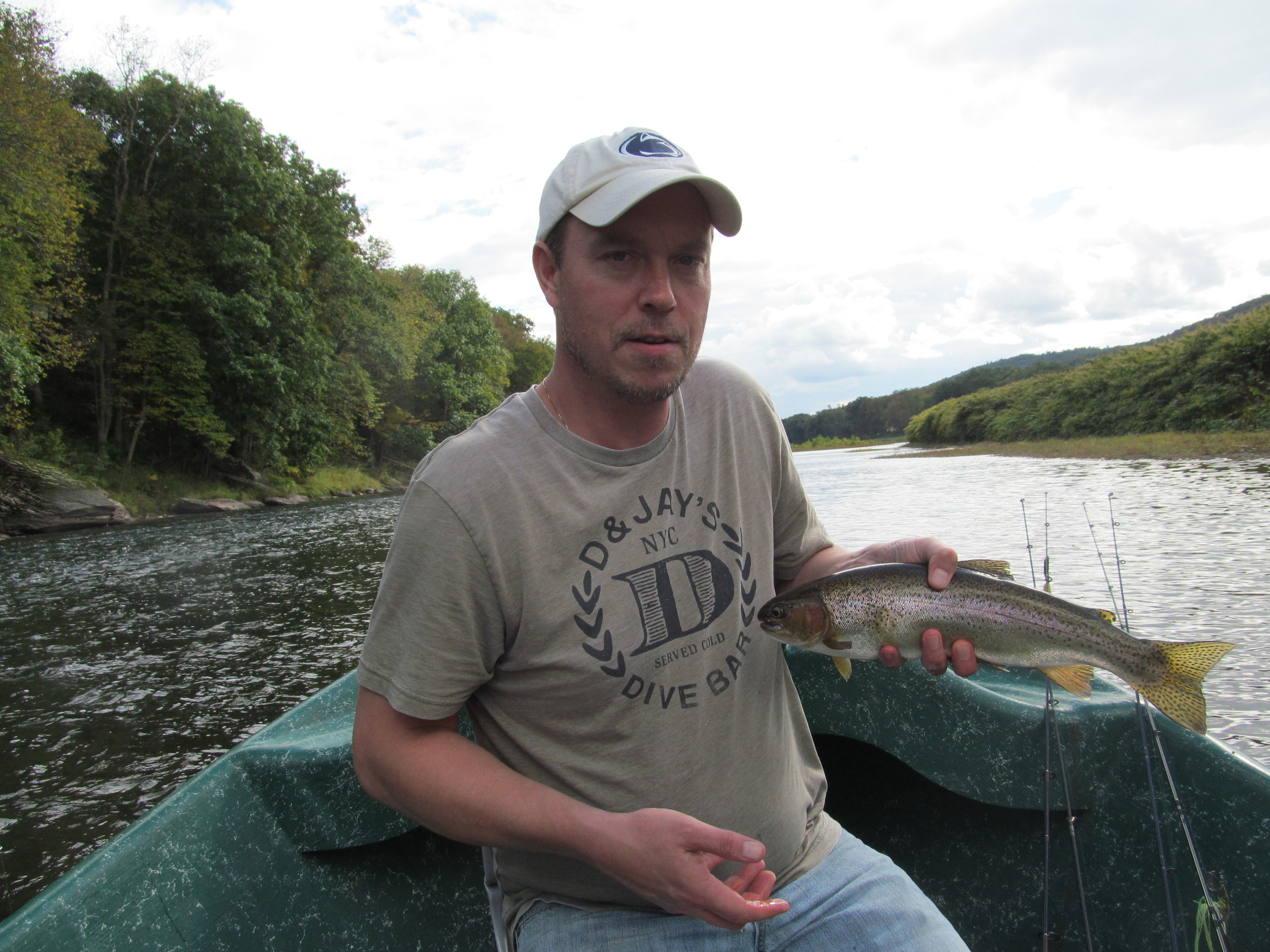 Doug J. completes the trifecta with a healthy Rainbow trout!