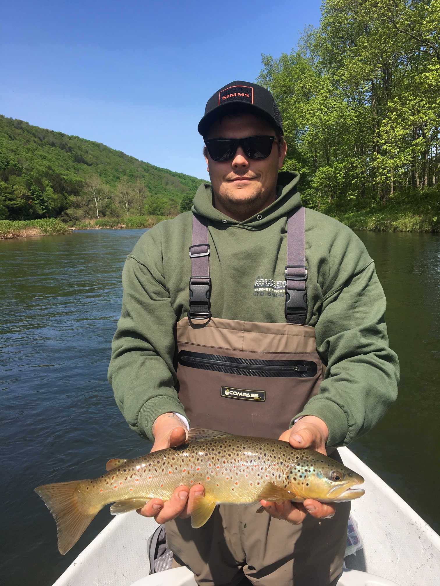 Matt K. with a gorgeous Brown trout