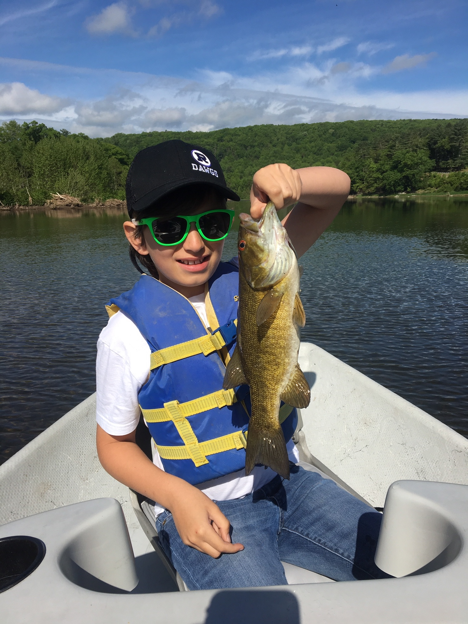 Enzo with a good Smallmouth Bass