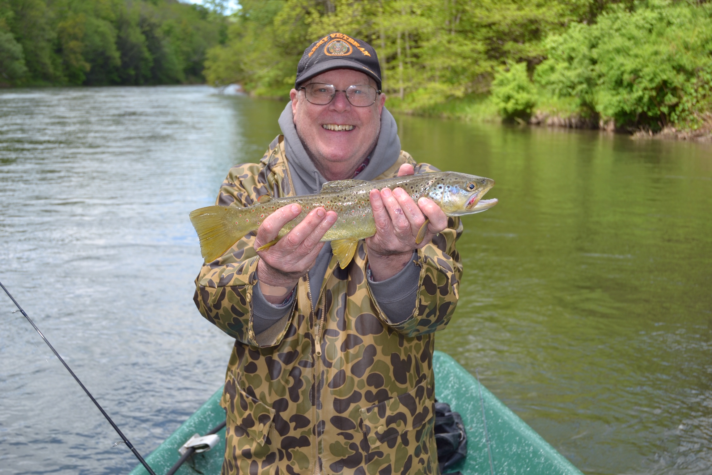 Ron N. holding a beautiful spring brown.