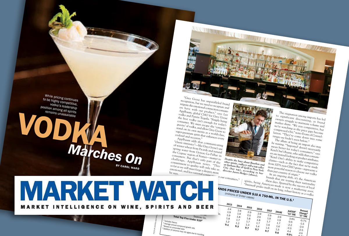 March 2019  MARKETWATCH MAGAZINE: Vodka Marches On.