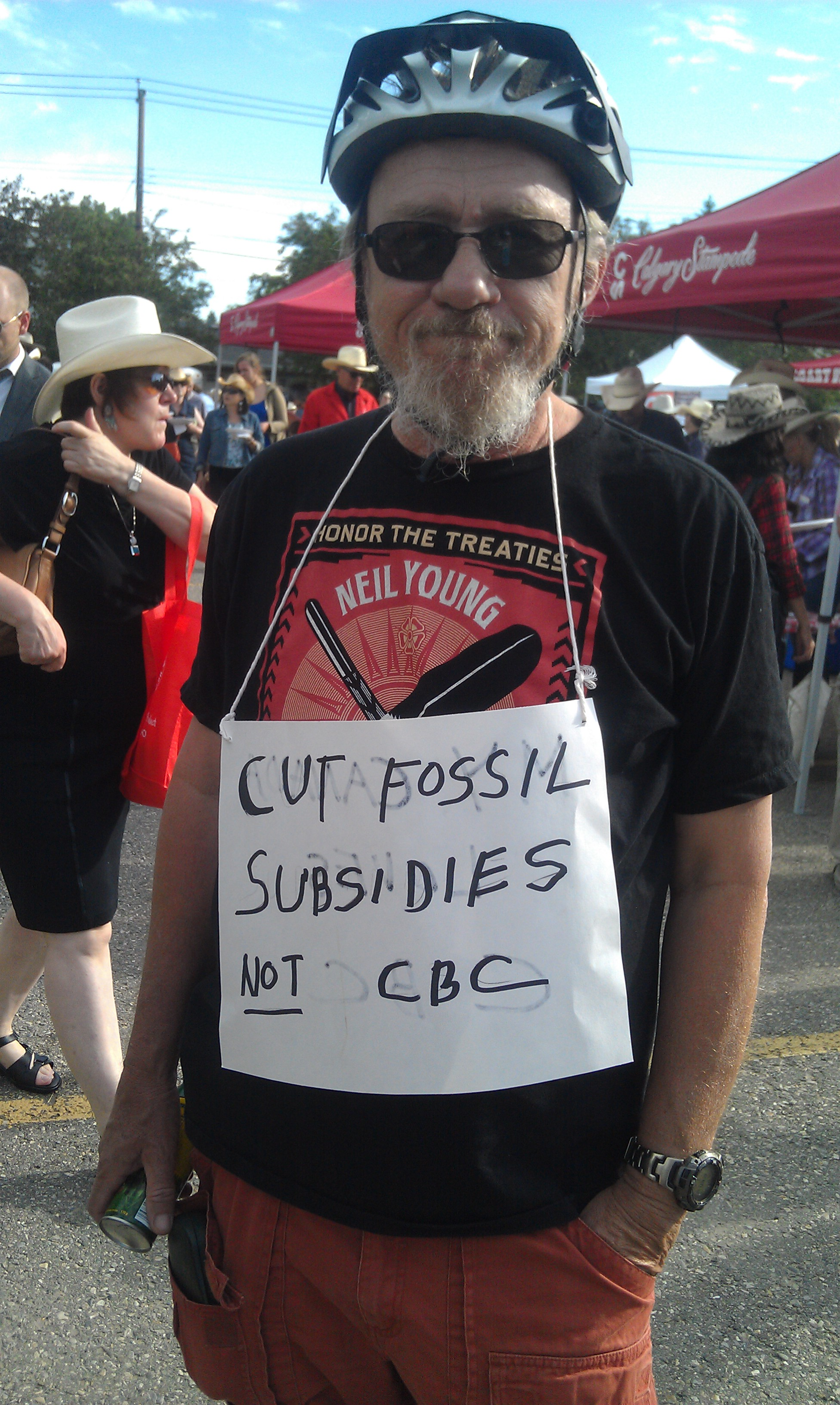 The dude does not abide cuts to the CBC.