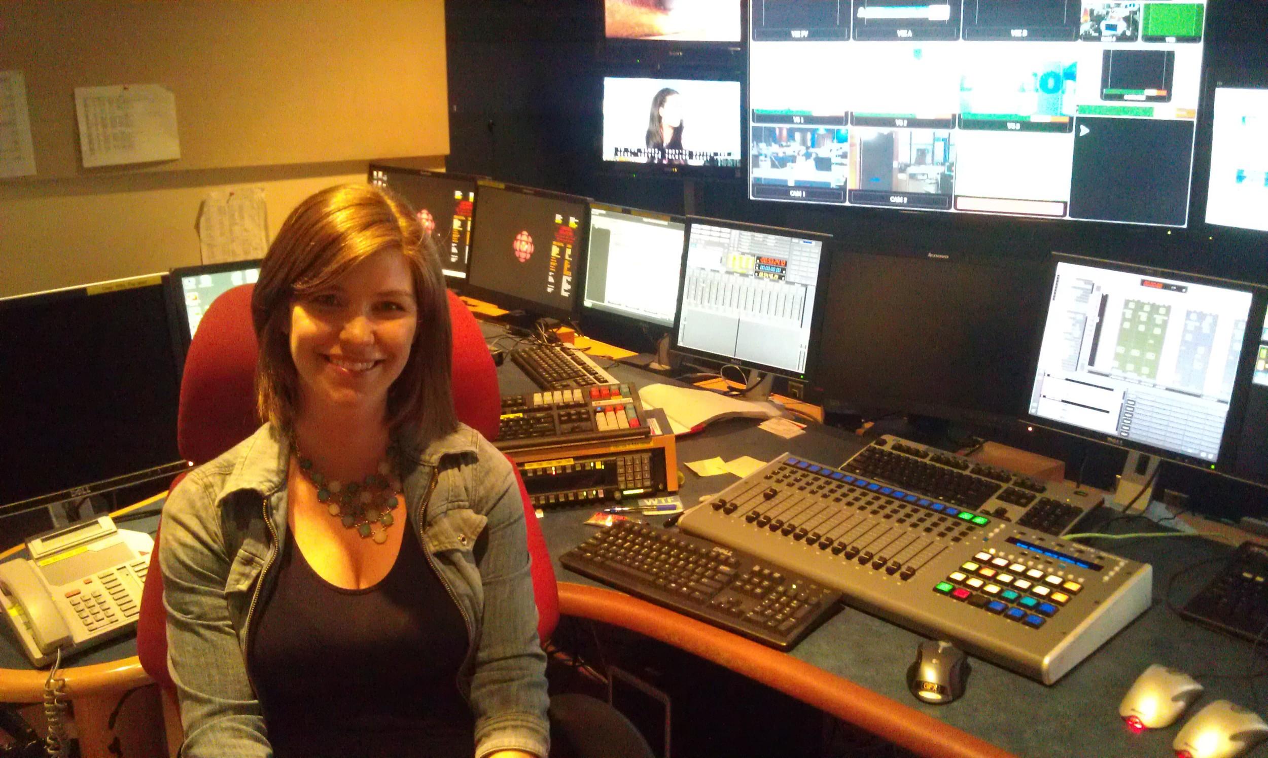 At the CBC studio in Edmonton, AB.