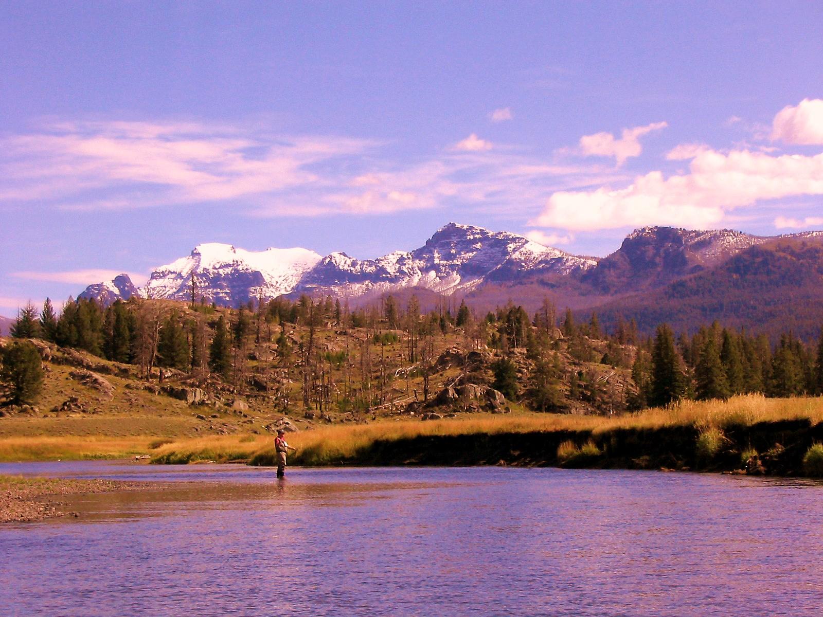 James fishing in Montana
