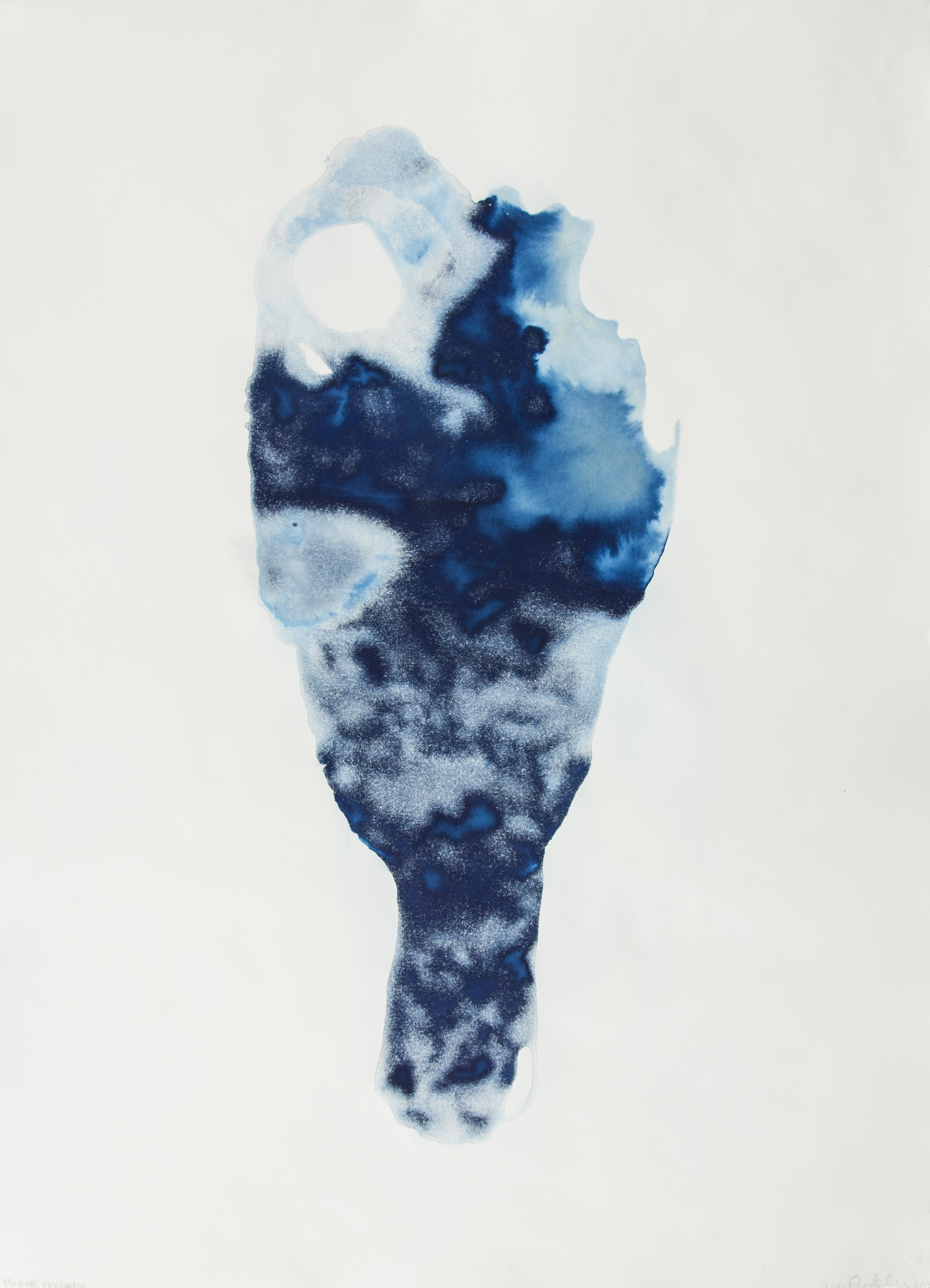 "ICELAND: EXPOSURE EIGHT   Cyanotype, Hahnemühle Paper   31"" x 42""   2013"