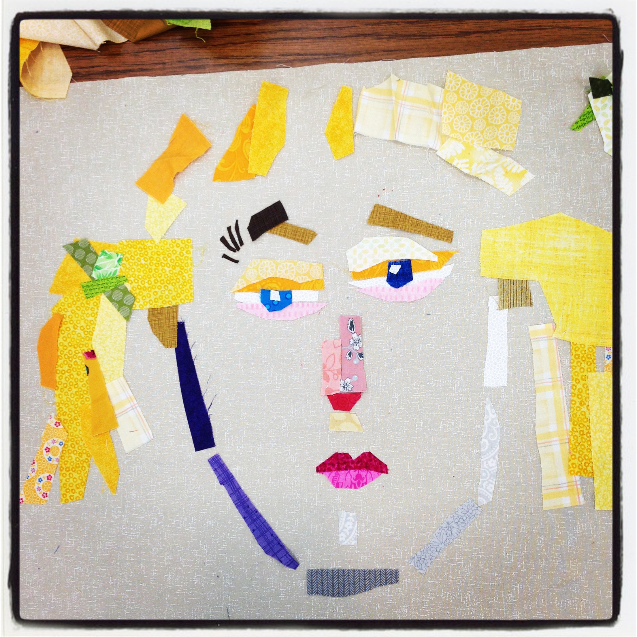 Student work by Beth Stephens in Making Faces with Melissa Averinos class.