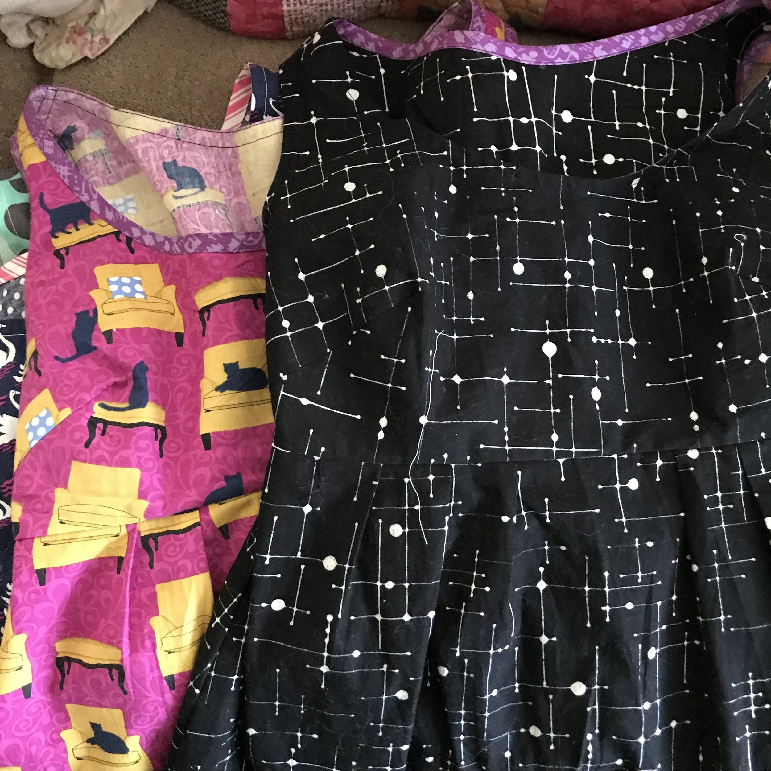 Handmade dresses are even more awesome with contrasting bias tape, amirite?   -
