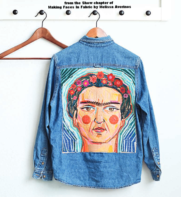 Frida Kahlo fabric Collage by Melissa Averinos from Making Faces In Fabric