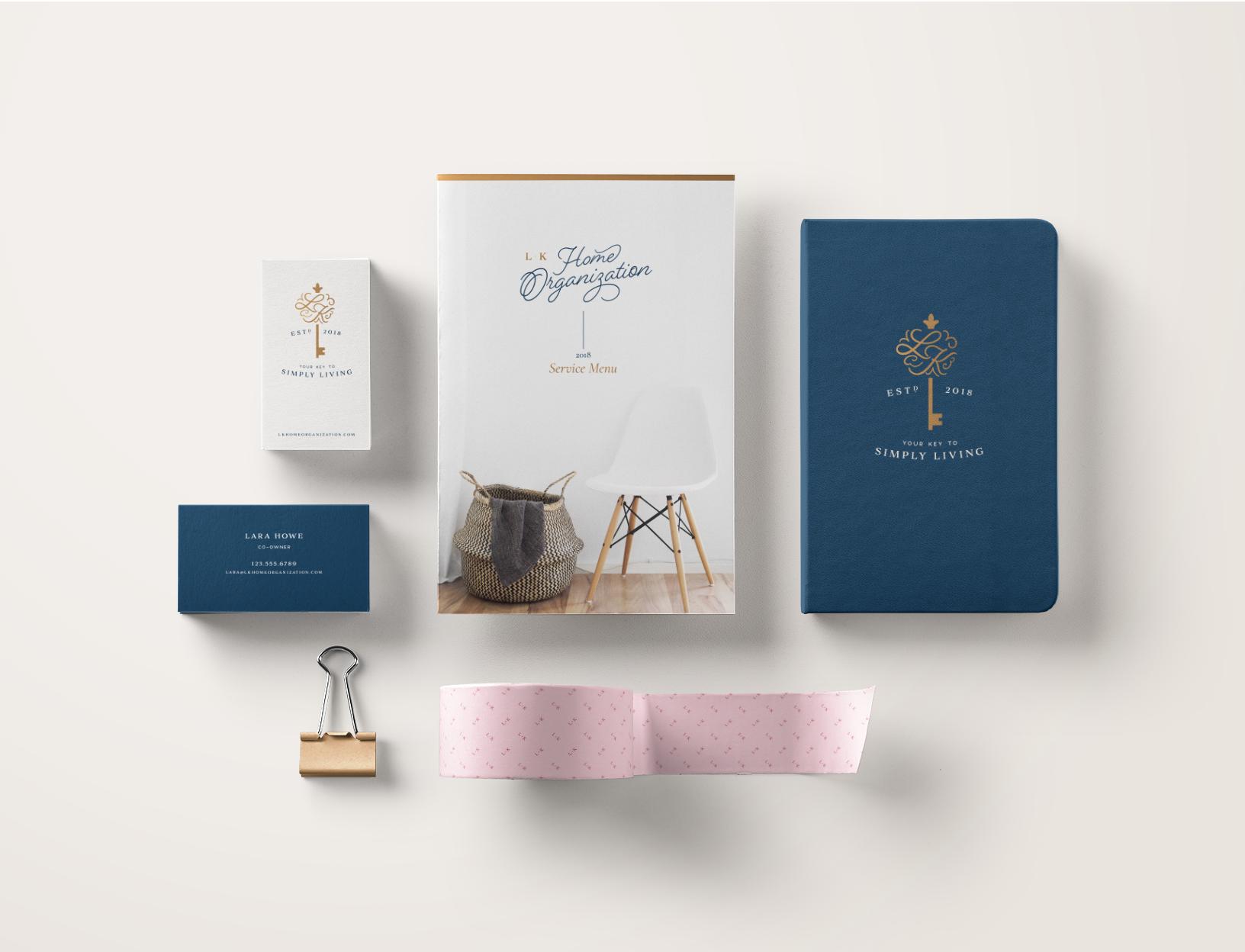 L+K Home Organization Brand Identity by Meghan Lambert