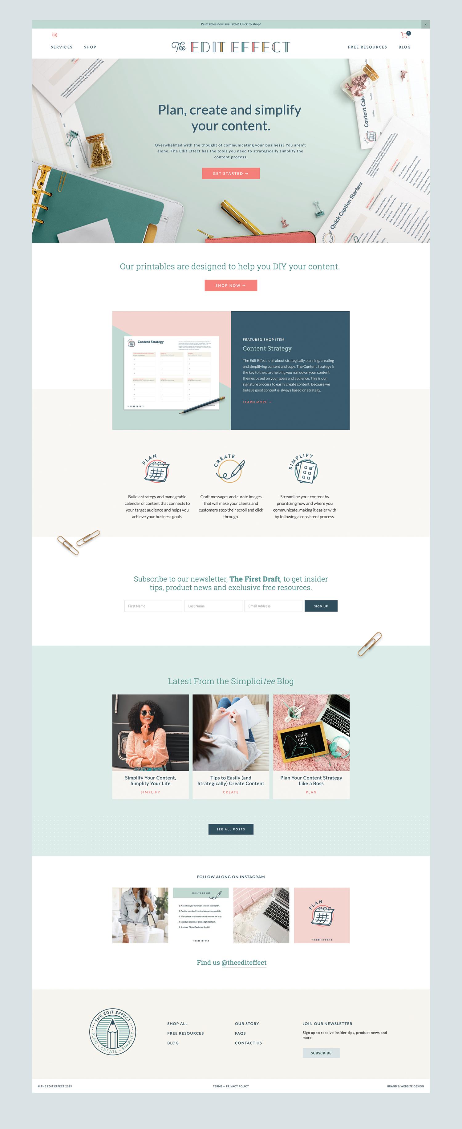 The Edit Effect Website Design by Meghan Lambert