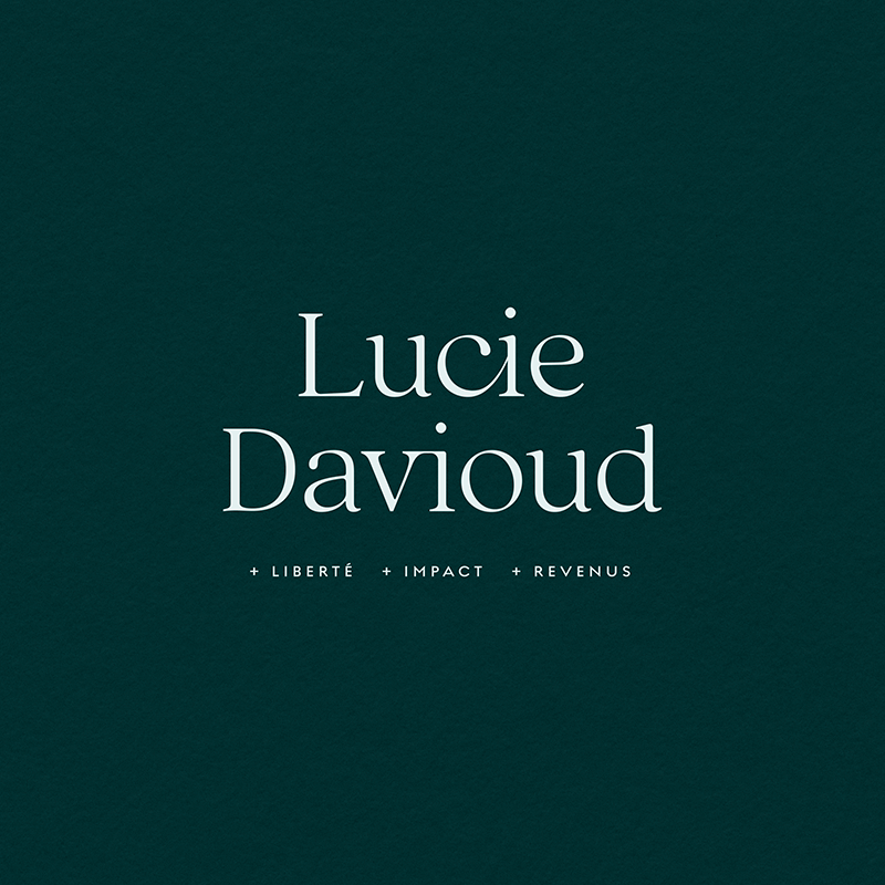 Lucie Davioud - Brand & Website Design