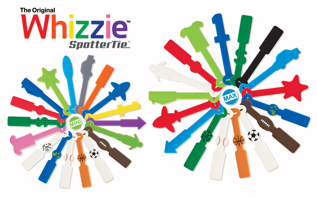 The Whizzie™ SpotterTie™ collection is a U.S. and International Patent Pending product.  Contact us  for more information about retail and promotional availability.