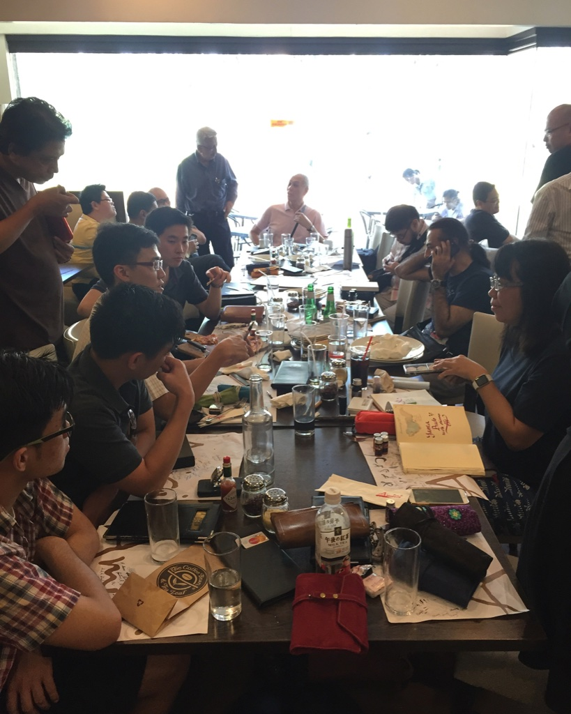 The main table at the Manila pen meet in January 2016