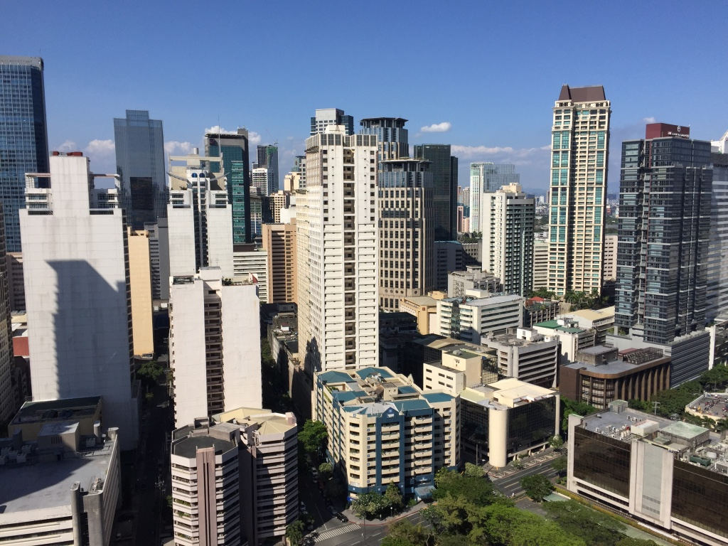 The view of Makati from our apartment building.
