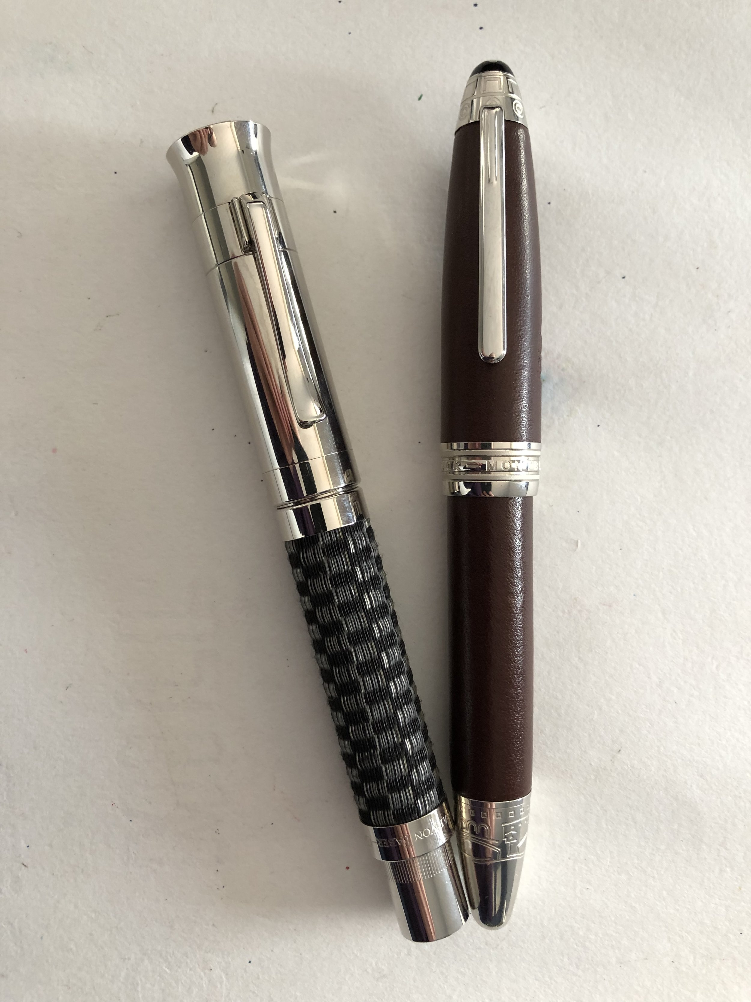 Graf von Faber-Castell Pen of the Year 2009 and Montblanc Firenze.