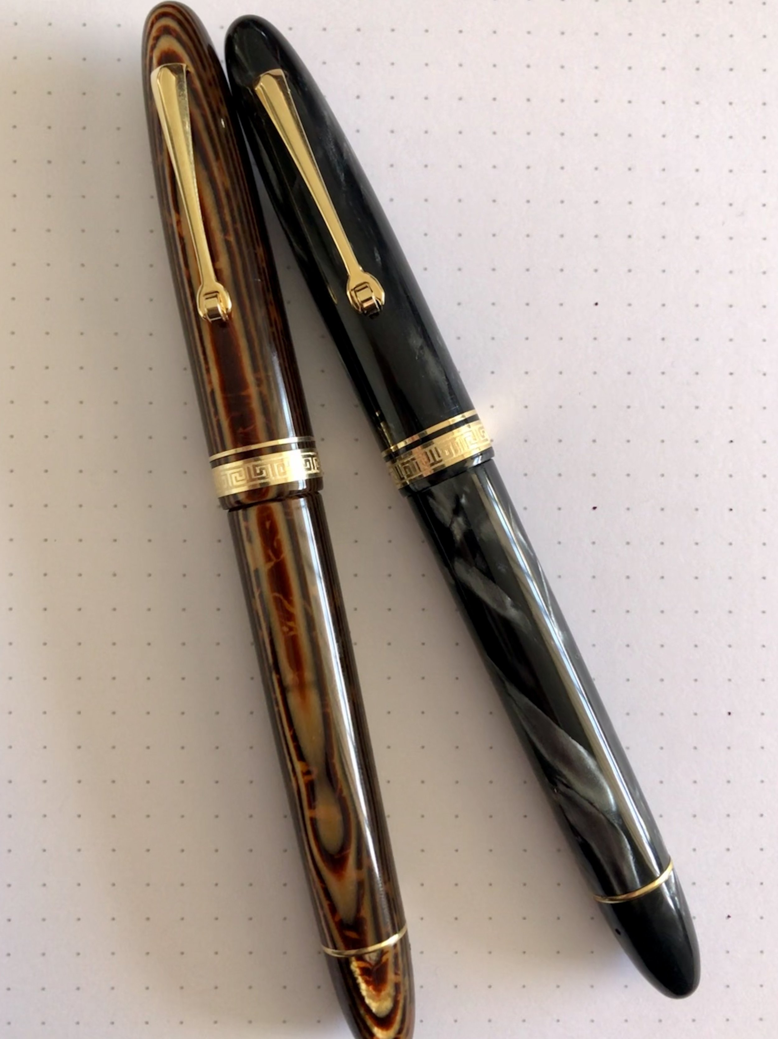 Vintage Omas Ogiva Arco and Pearl Grey.