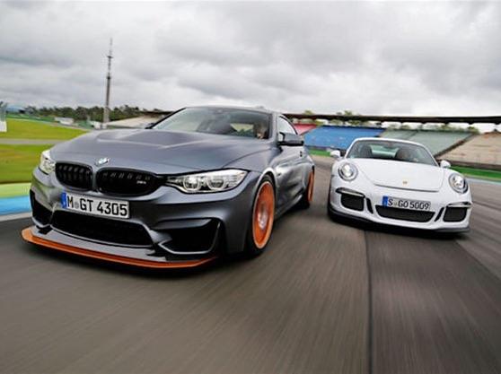 Track battle between the BMW M4 GTS and Porsche 911 GT3. Who wins? #M4 #M4GTS #Porsche #911 #991GT3
