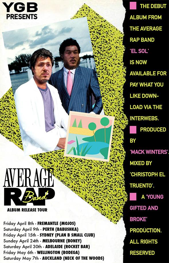 average rap band tour poster.png