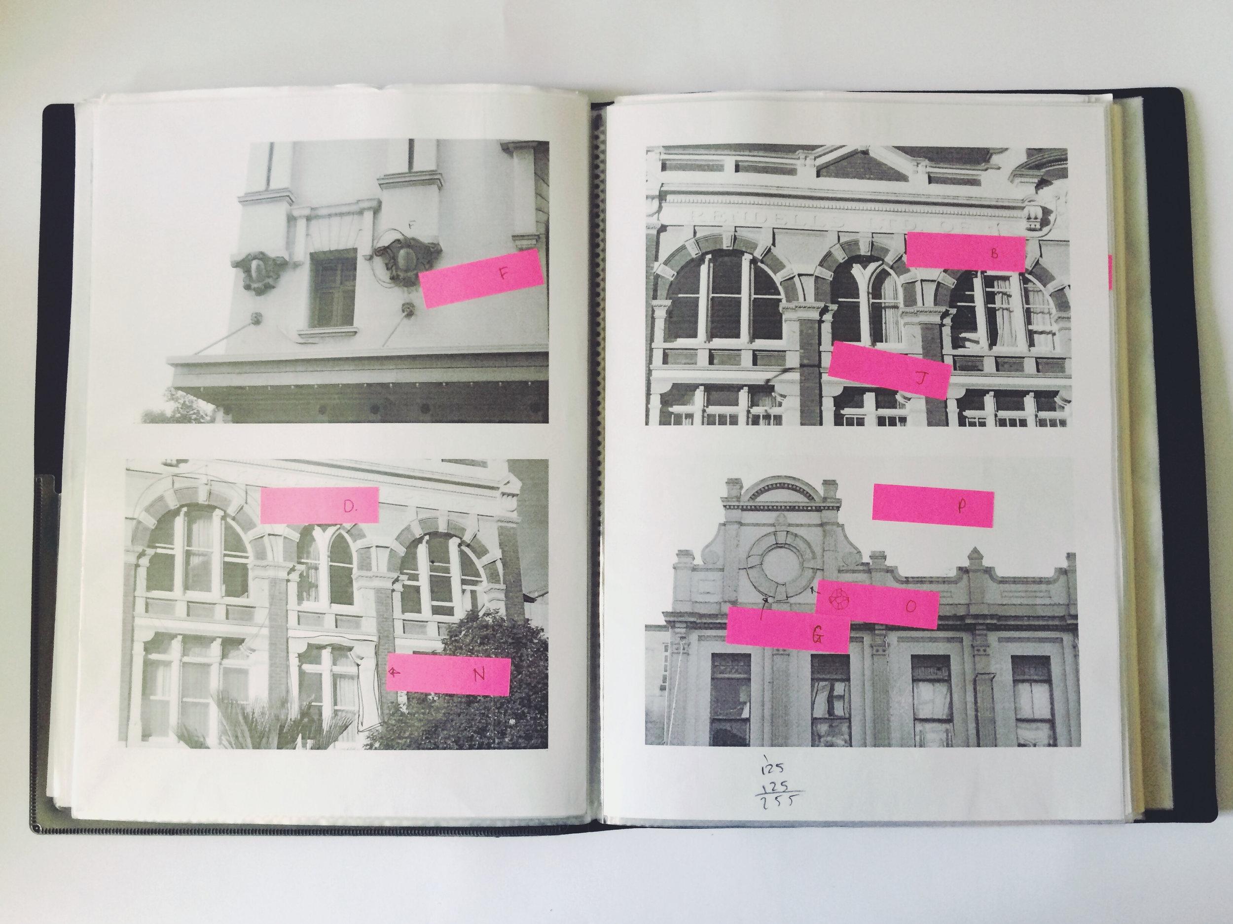 Above: Alisha's research into K'Roads architecture