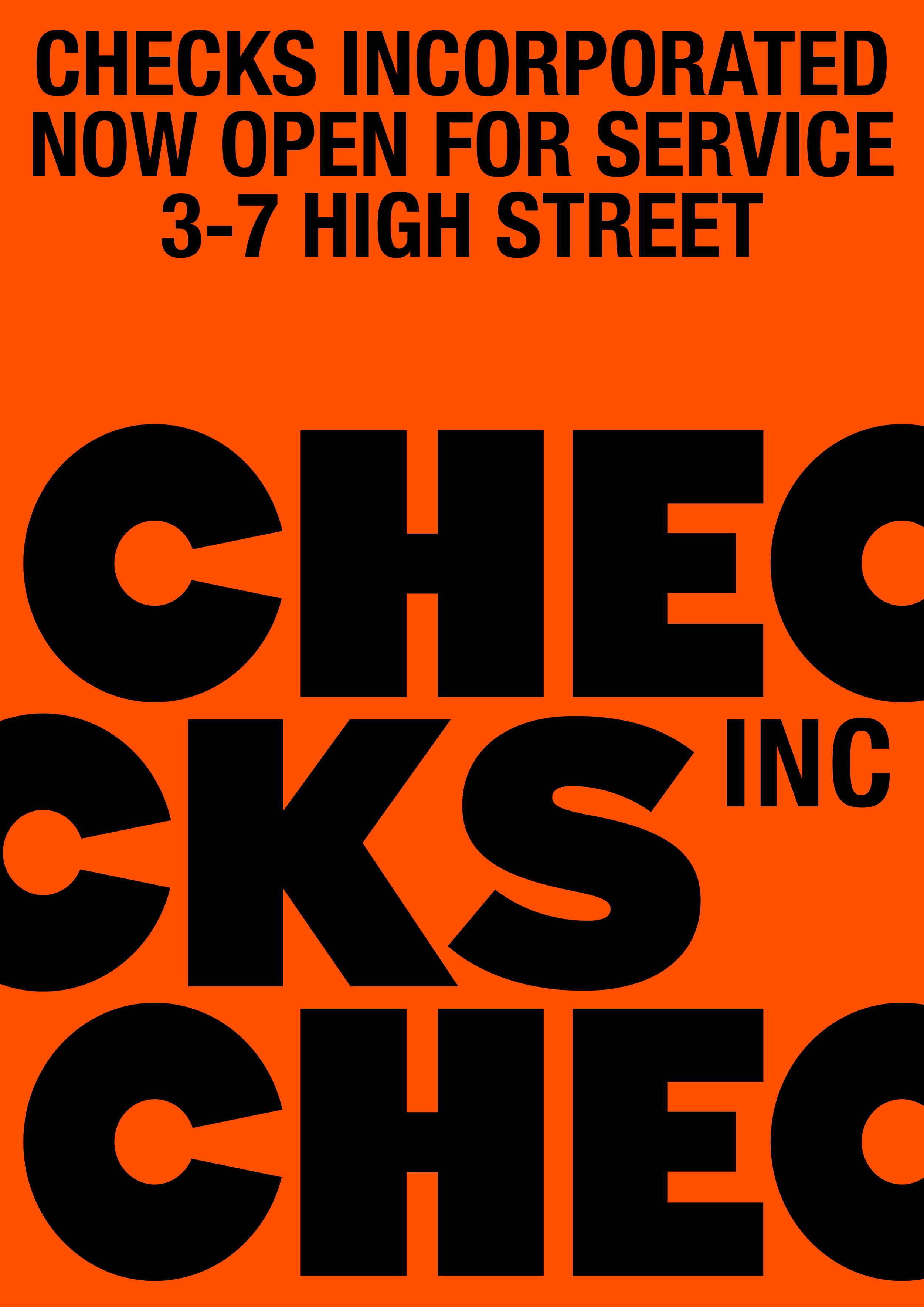 Above: Josh's work for Checks Downtown, a menswear store specialising in a mix of streetwear and cut-and-sew, located on High Street in Auckland.