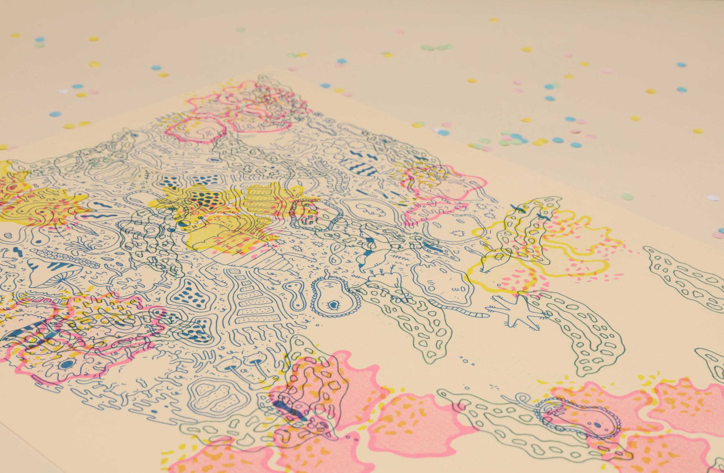Above: Chippy's 'Micromash Risograph print'