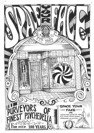 Poster for Space Your Face - a St Kevin's Store in the 90s