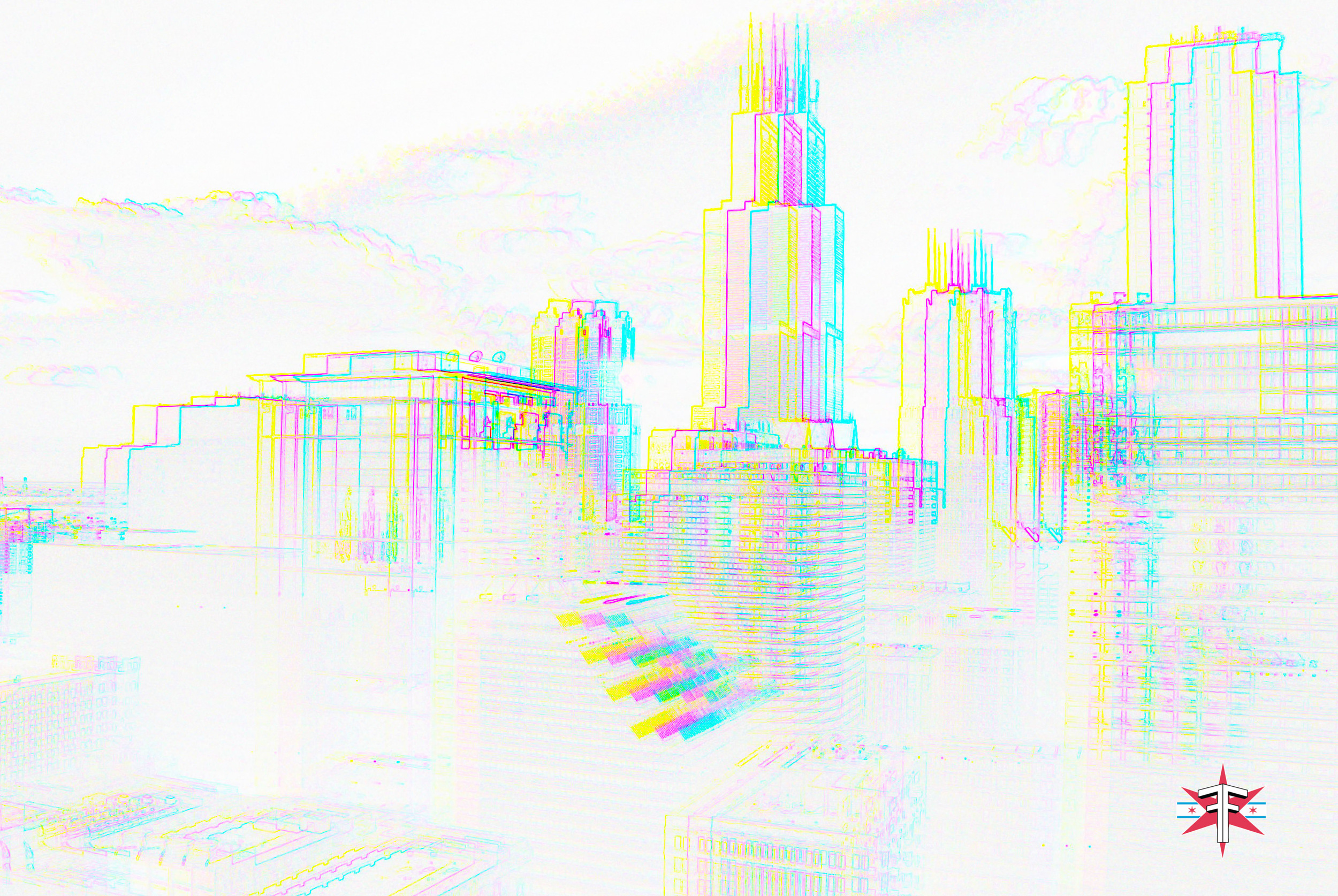 chicago downtown loop sears tower hancock buildings towers trippy vibrant colors abstract skyline cityscape eric formato formatografia fotografia arte photography color photography fine art design-8.jpg