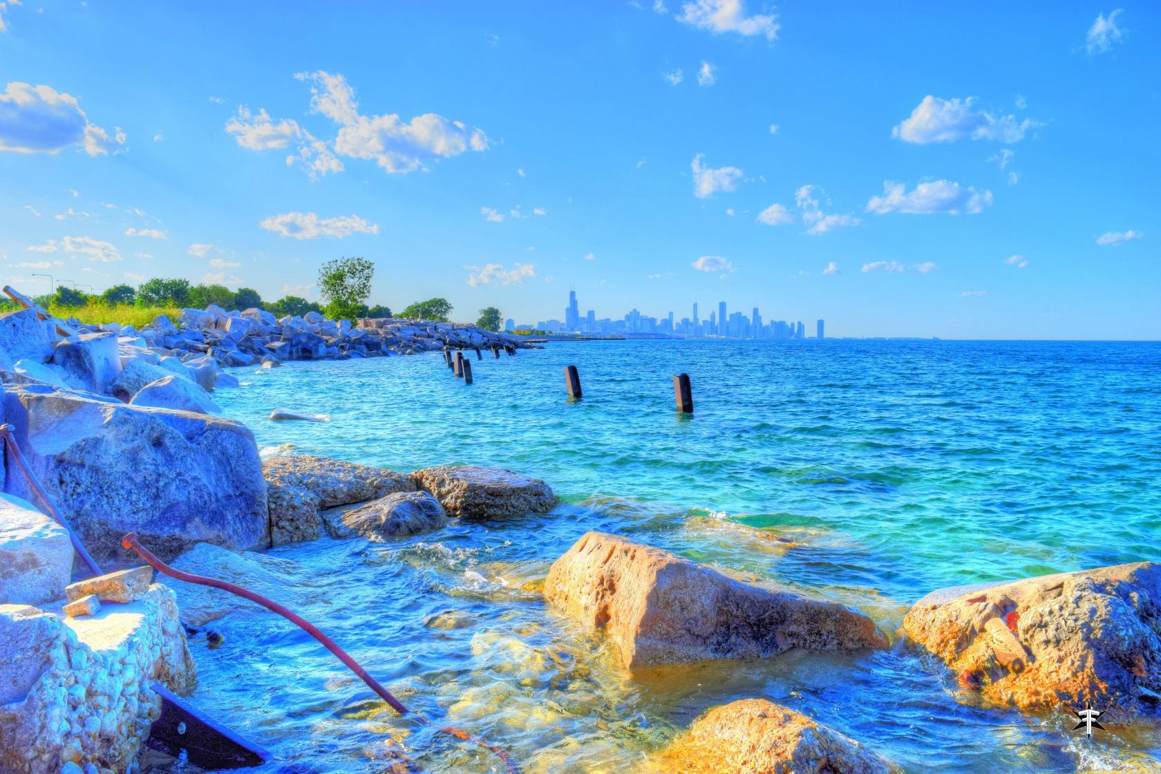 batch_chicago lake michigan skyline water colorful industrial rocks.jpg