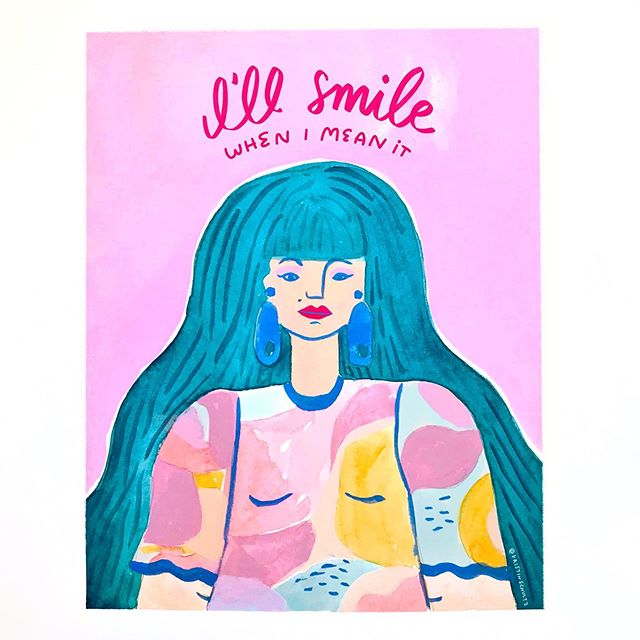 reminder from a girl who always got told to smile all the time: a genuine smile is👌🏽 a resting whatever face is 👌🏽 a frown is 👌🏽 a deep in concentration face is 👌🏽 👄 👄 👄  Basically, your face is just fine. Smile when you feel like it. Some people smile easily. That's great! Not all of us do, and let's not assume that we should all act the same, shall we? 🙃😐🙂😁
