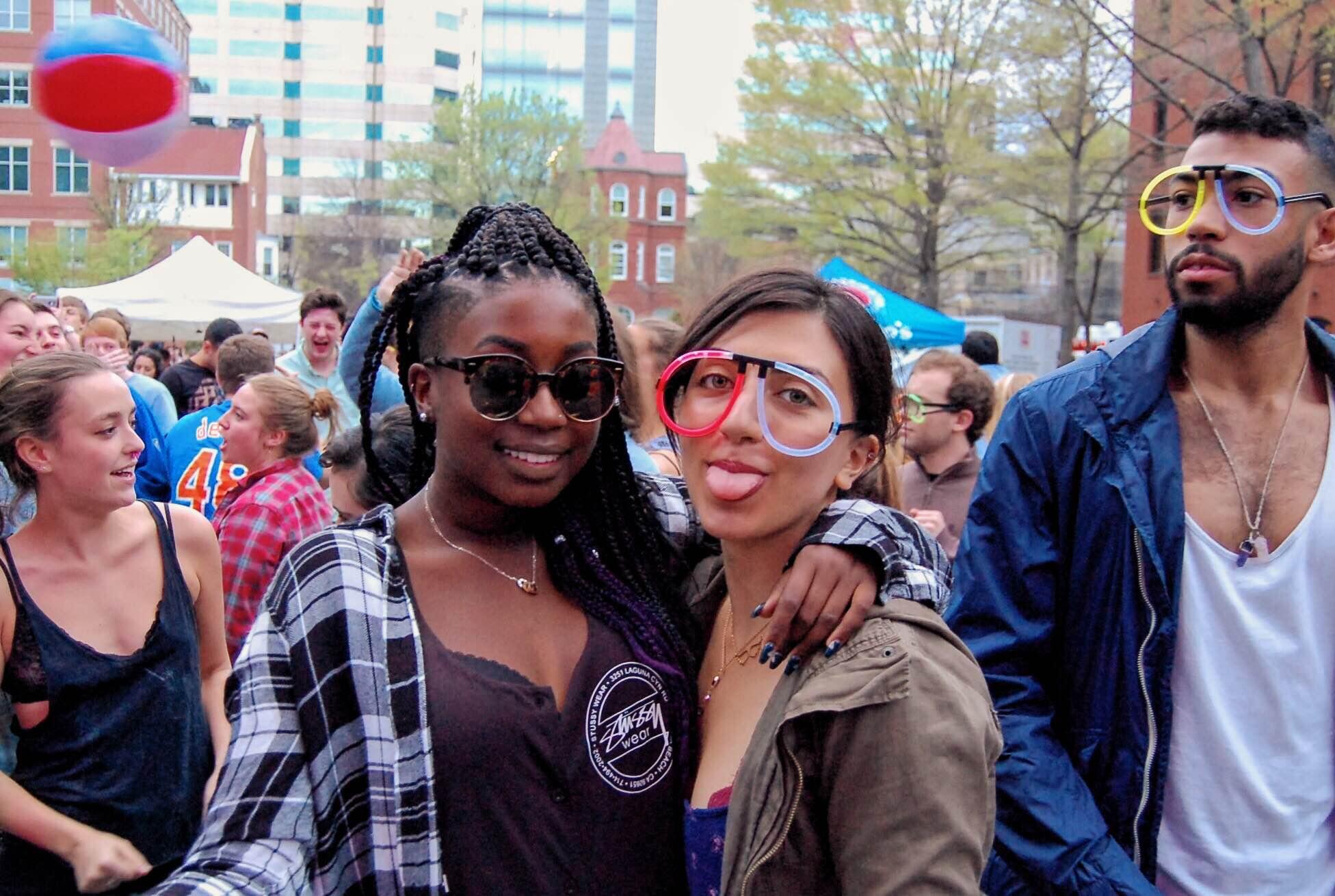 Students at GW Spring Fling