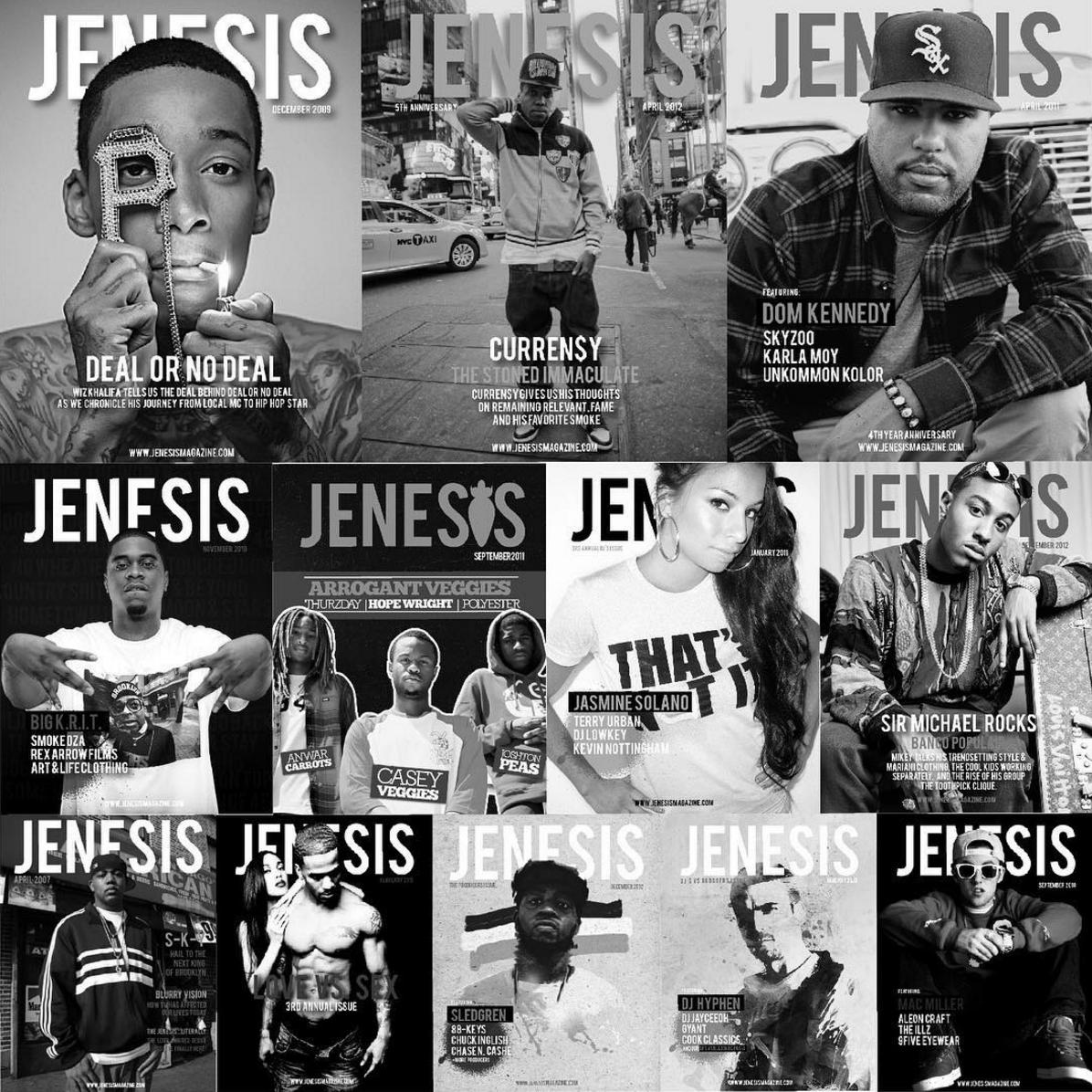 Jenesis Magazine covers