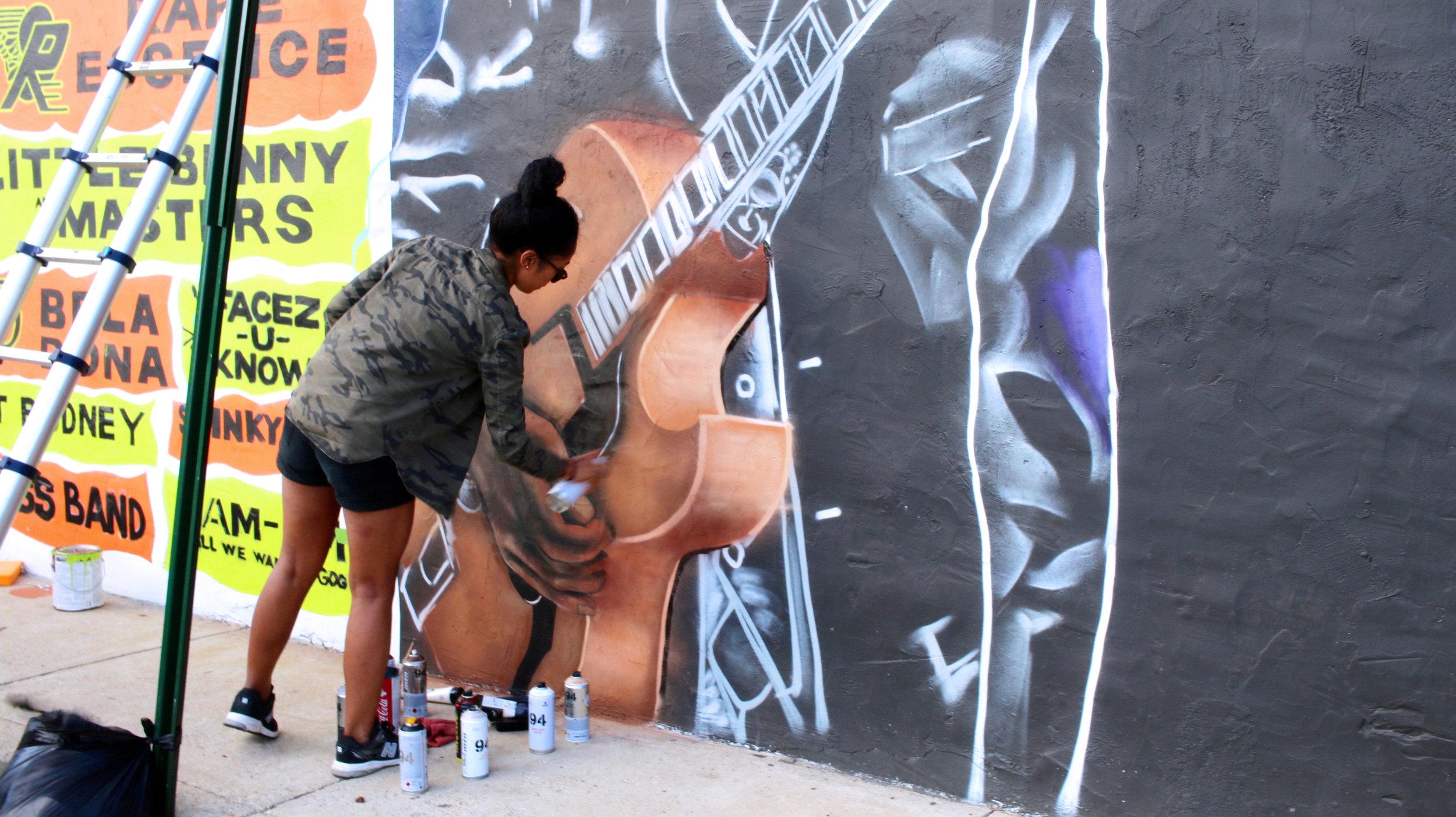 Maria Miller's Chuck Brown Mural