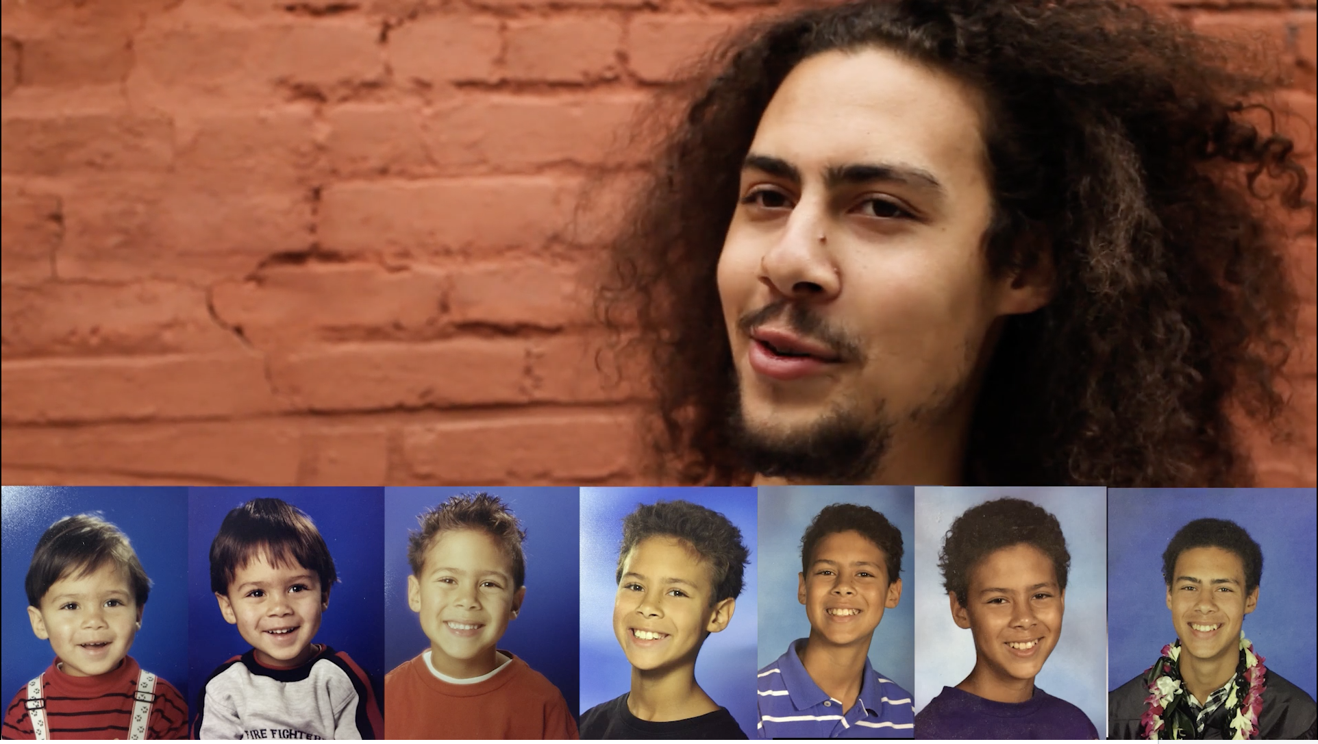 From straight to curly: the evolution of Chris' hair.