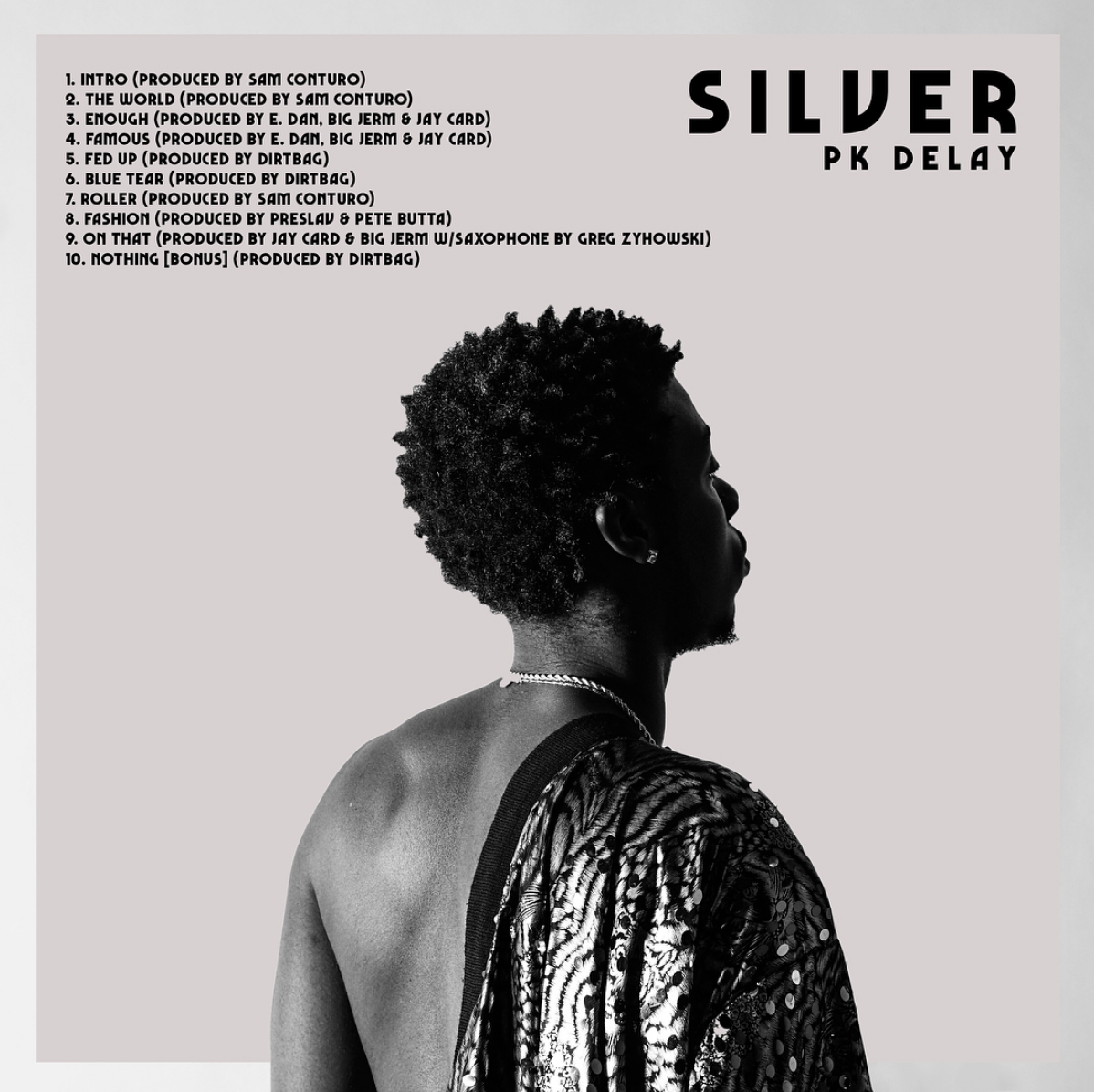 "Pk Delay ""Silver"" cover art by  Ben Petchel  via  @pkdelay  on Instagram"
