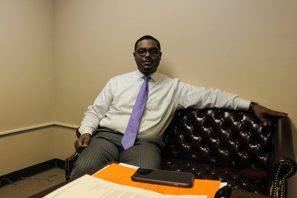Rep. Austin Davis in his office in White Oak, Pa. | photograph by Alex Young
