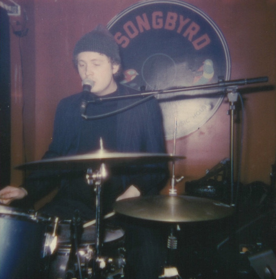 Rob Stokes—drummer, vocalist and composer of 'October '71.' Polaroids by Maxwell Young