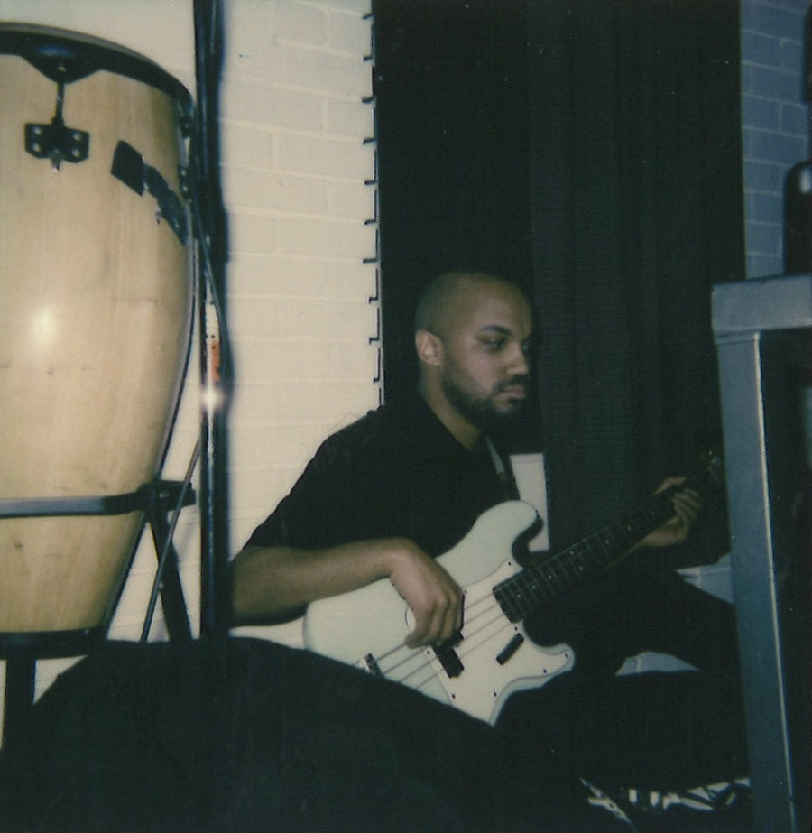 Tooth Choir  is also a bass player in D.C.-based band Go Cozy. Polaroid by Maxwell Young