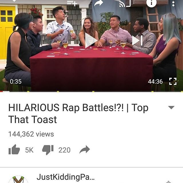 Whoa! @jkfilms video of their crew playing Top That Toast is awesome! Check it out - link in bio #partygames #topthattoast #socialgames #jkparty #jkfilms