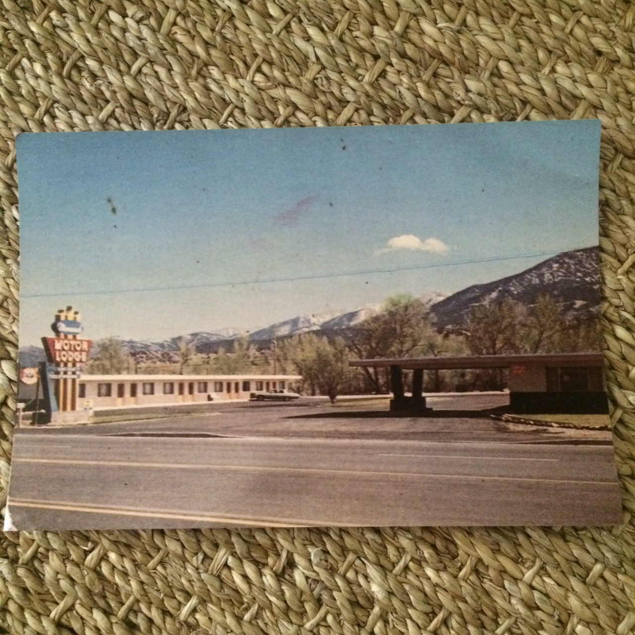 The current owners gave us this photograph of the property as it stood perhaps 30-40 years ago.  Originally it was called the Monarch Motor Lodge and then changed to the Aspen Leaf Motel in the 90s.