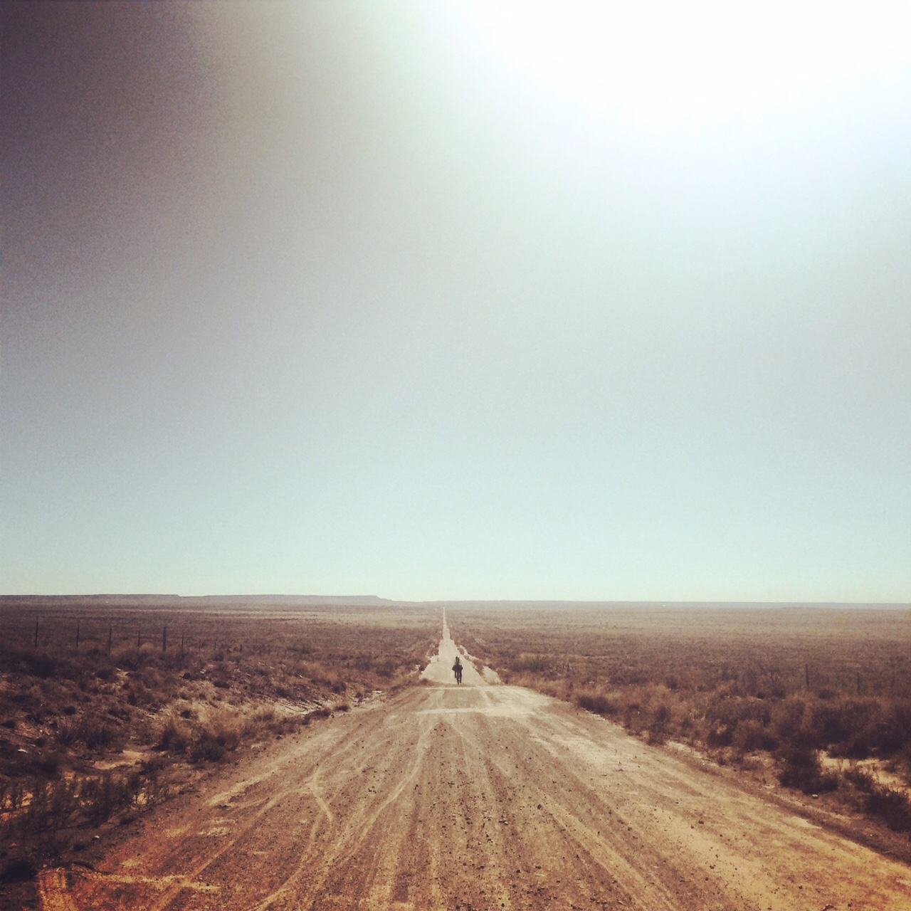 Somewhere near the Texas/New Mexico border some 30 miles from Tucumcari, the end of an a 900 mile race across Texas.
