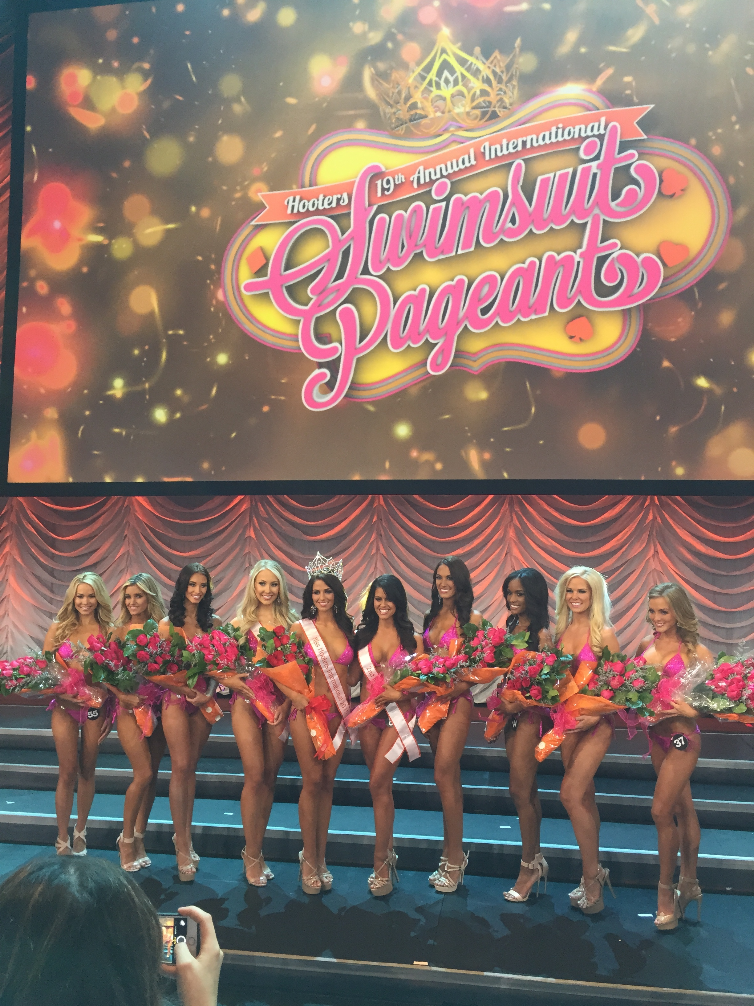 Working with Kathy Moberly and team in vegas for the Miss Hooters International Pageant