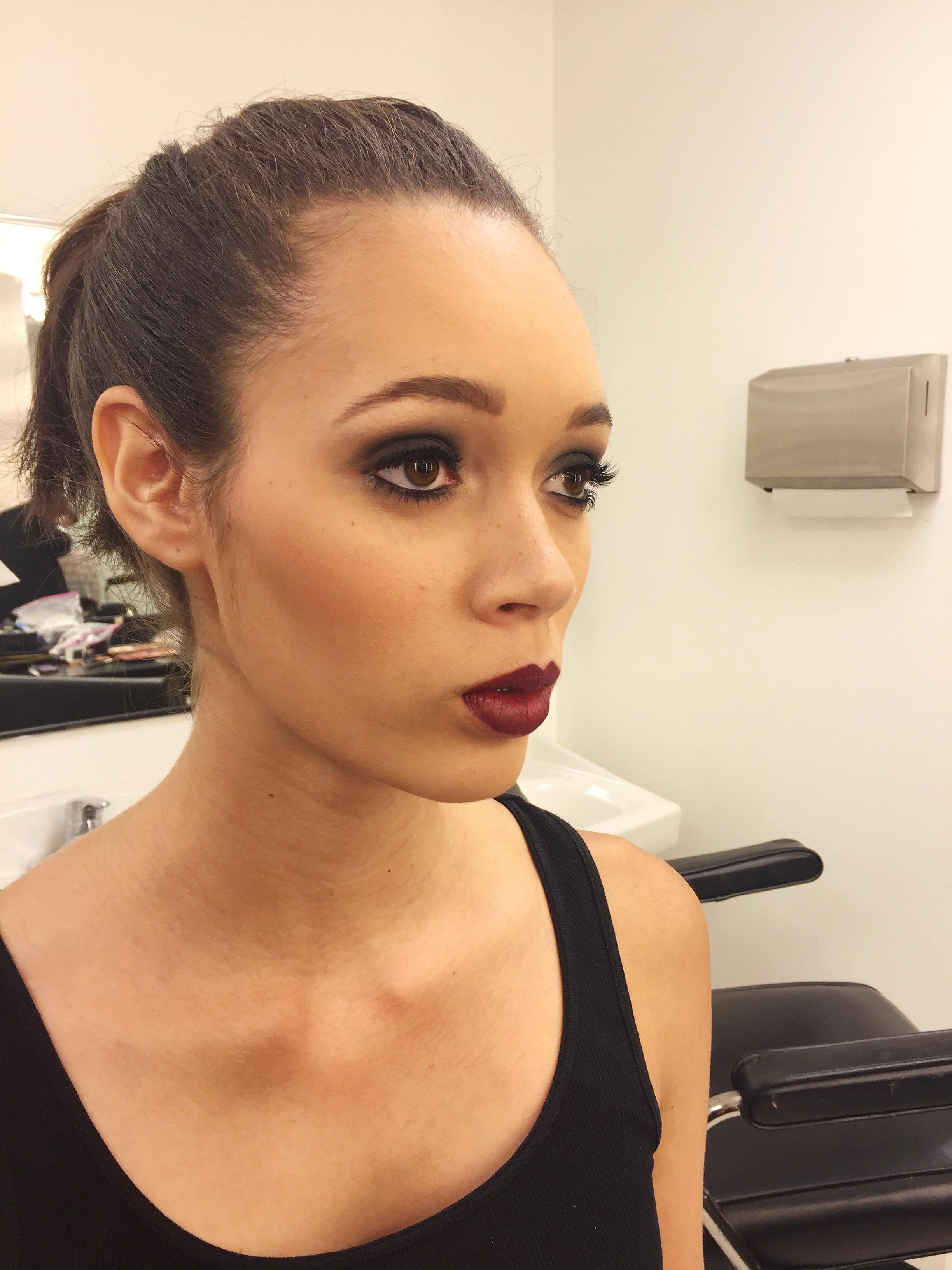 Doing makeup on beautiful faces